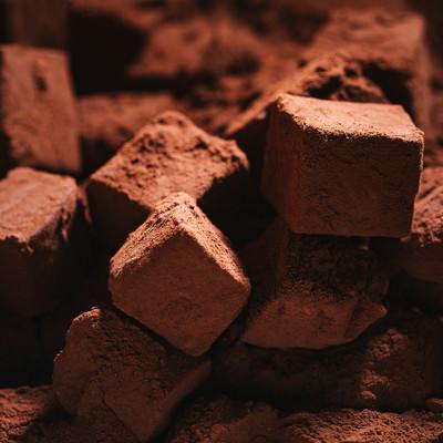 生チョコのココアパウダーの写真