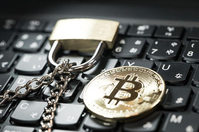 ブロックチェーンとビットコインの写真