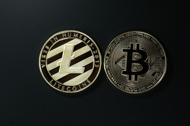 ライトコインとビットコインの写真