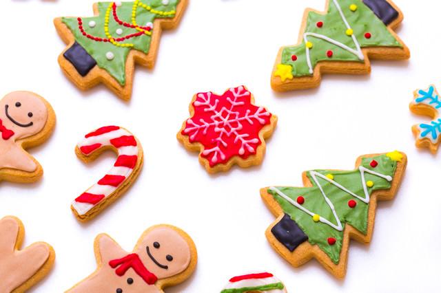 クリスマスのアイシングクッキーの写真