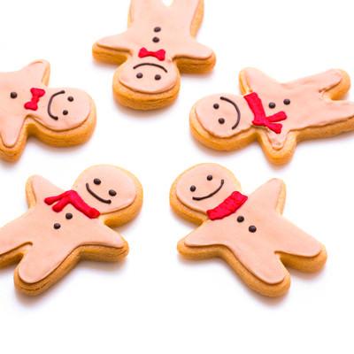 「仲良し5人組クッキー」の写真素材