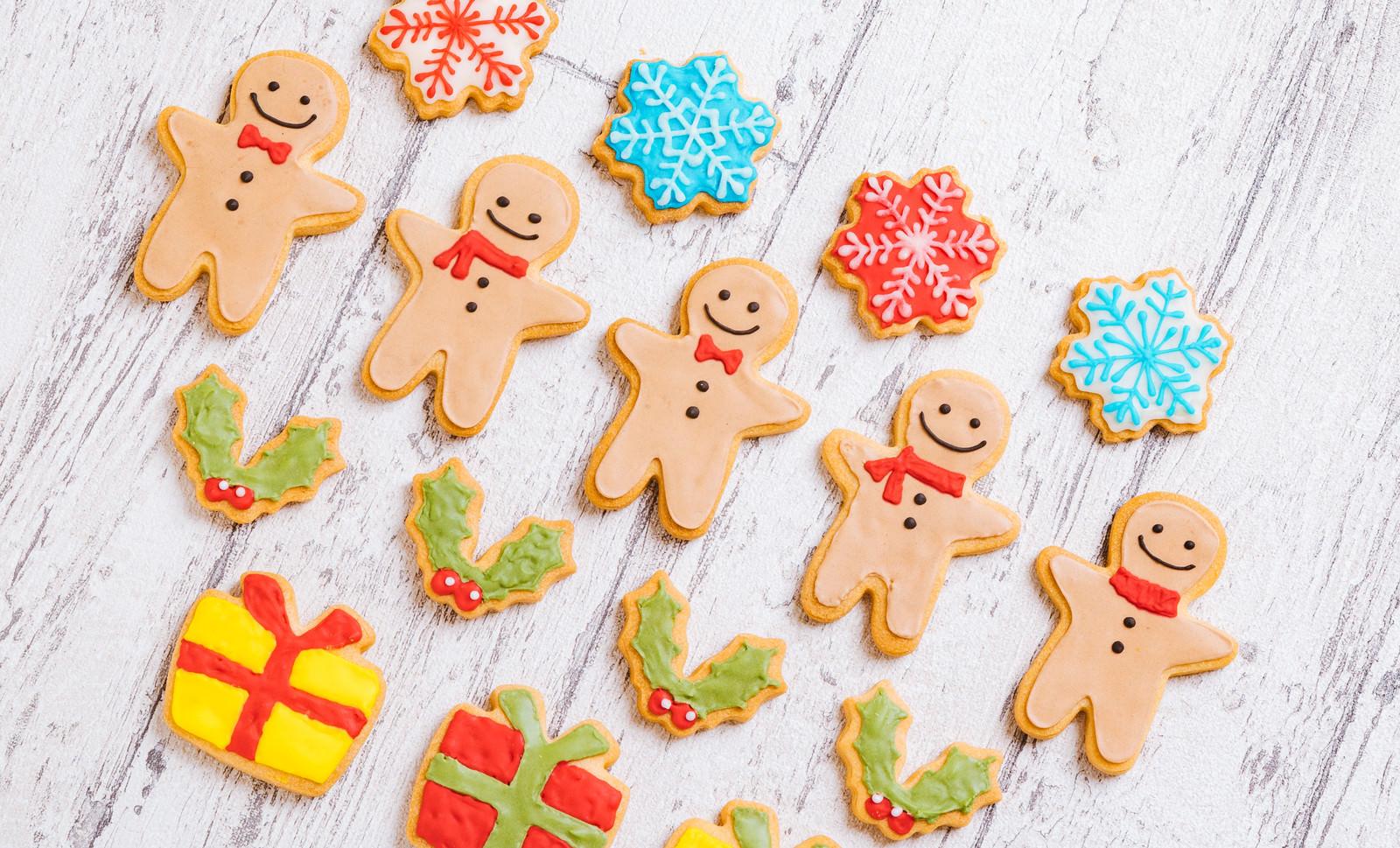 「クリスマス用アイシングクッキー」の写真