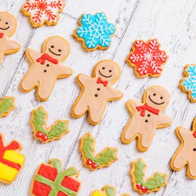 クリスマス用アイシングクッキーの写真
