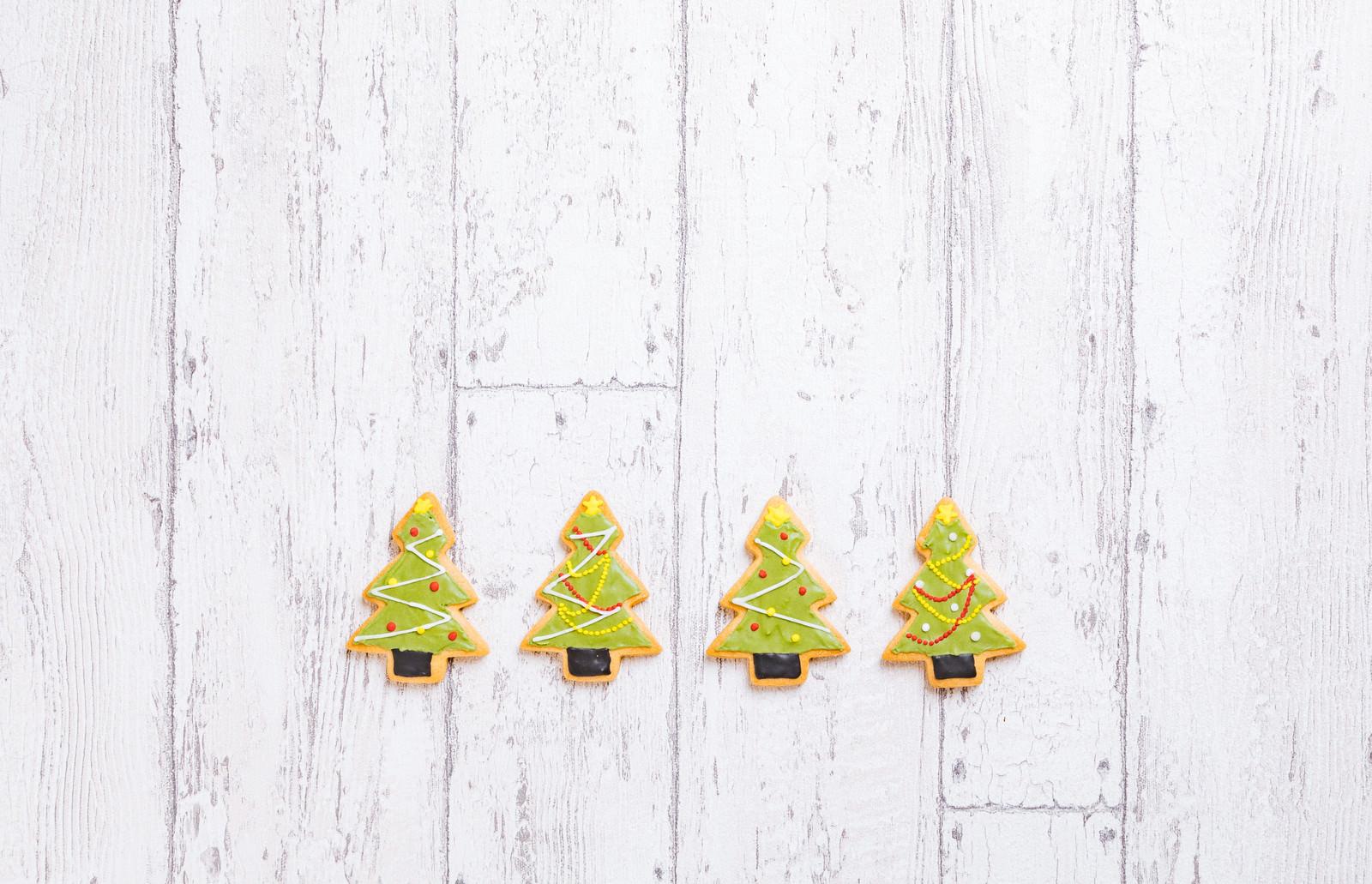 「クリスマスツリー(アイシングクッキー)」の写真