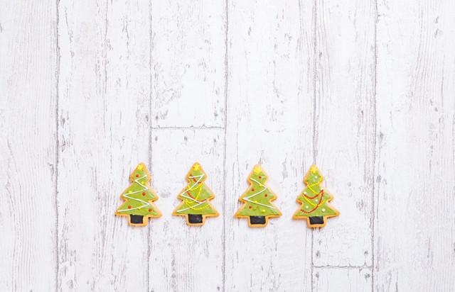 クリスマスツリー(アイシングクッキー)の写真