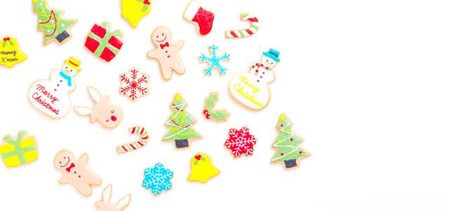 クリスマスのキャラクタークッキーの写真
