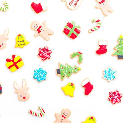 クリスマス用手作りアイシングクッキーの写真