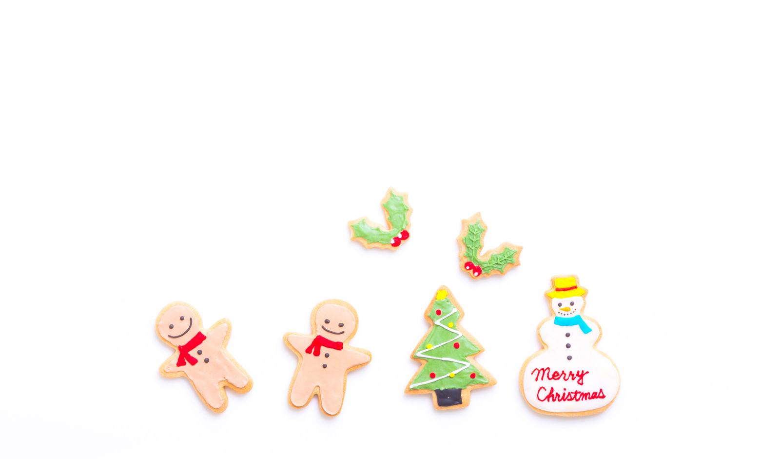 「2人でメリークリスマス(アイシングクッキー)2人でメリークリスマス(アイシングクッキー)」のフリー写真素材を拡大