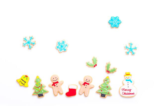 ホワイトクリスマス(アイシングクッキー)の写真