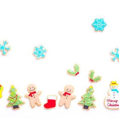 「ホワイトクリスマス(アイシングクッキー)」の写真素材