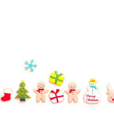 クリスマスのプレゼント交換(アイシングクッキー)の写真