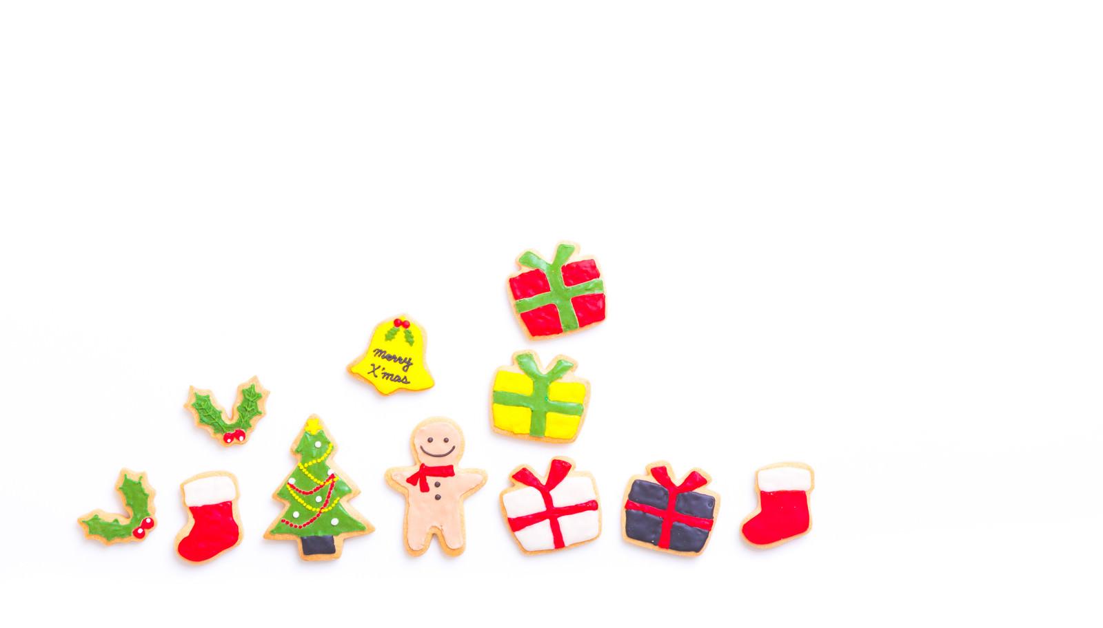 「クリスマスにプレゼント沢山もらったボーイ(アイシングクッキー)」の写真