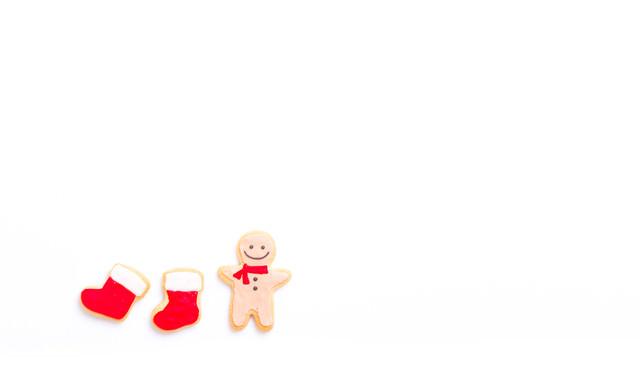 クリスマスの赤い靴下用意したよ(アイシングクッキー)の写真