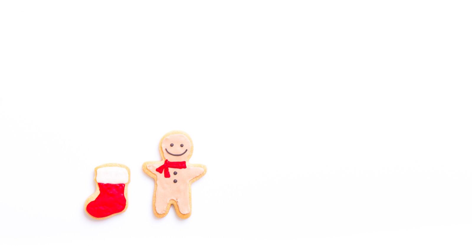 「サンタさんからの贈り物まだかなー(アイシングクッキー)サンタさんからの贈り物まだかなー(アイシングクッキー)」のフリー写真素材を拡大