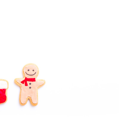 サンタさんからの贈り物まだかなー(アイシングクッキー)の写真