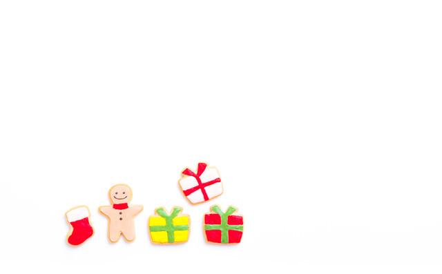 クリスマスのプレゼントいっぱい(アイシングクッキー)の写真