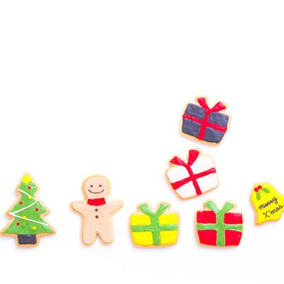 メリークリスマス!プレゼント盛りだくさん(アイシングクッキー)の写真