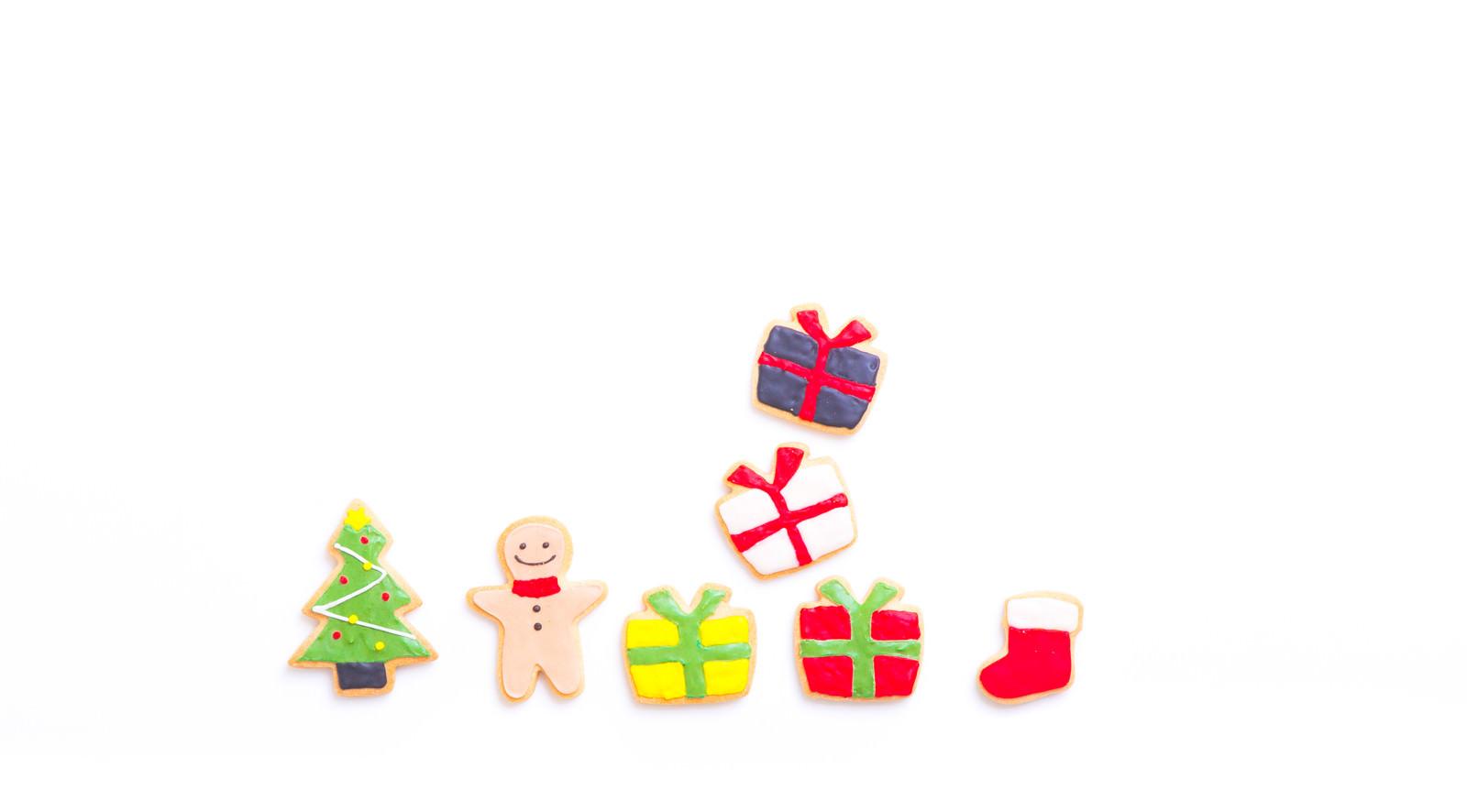 「サンタさんからのプレゼント(アイシングクッキー)」の写真