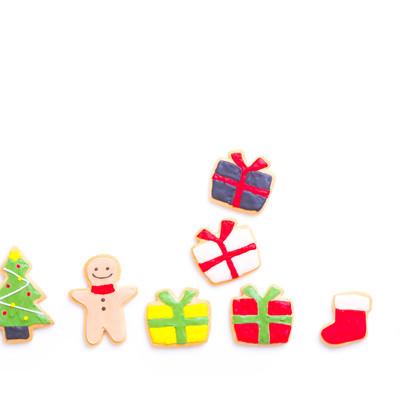 サンタさんからのプレゼント(アイシングクッキー)の写真