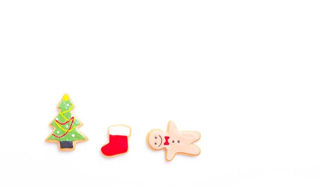 「サンタさんまだかなー(アイシングクッキー)」のフリー写真素材