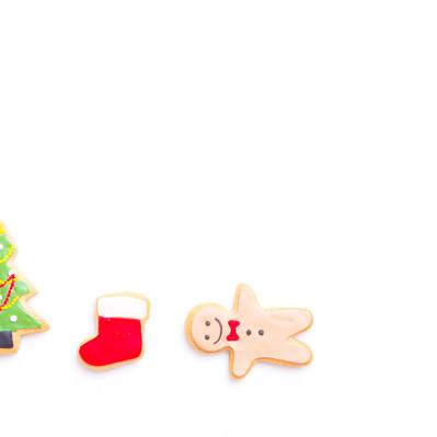 サンタさんまだかなー(アイシングクッキー)の写真