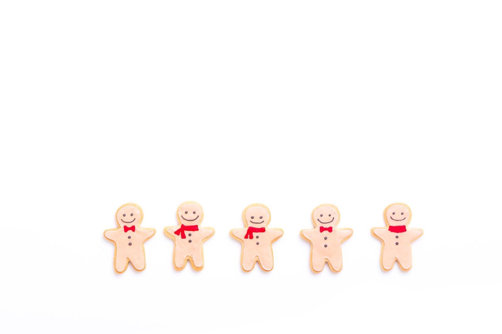 「5体揃ってニッコリスマイルクッキー」の写真