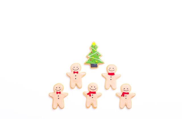 クリスマスツリーとニッコリクッキーの写真