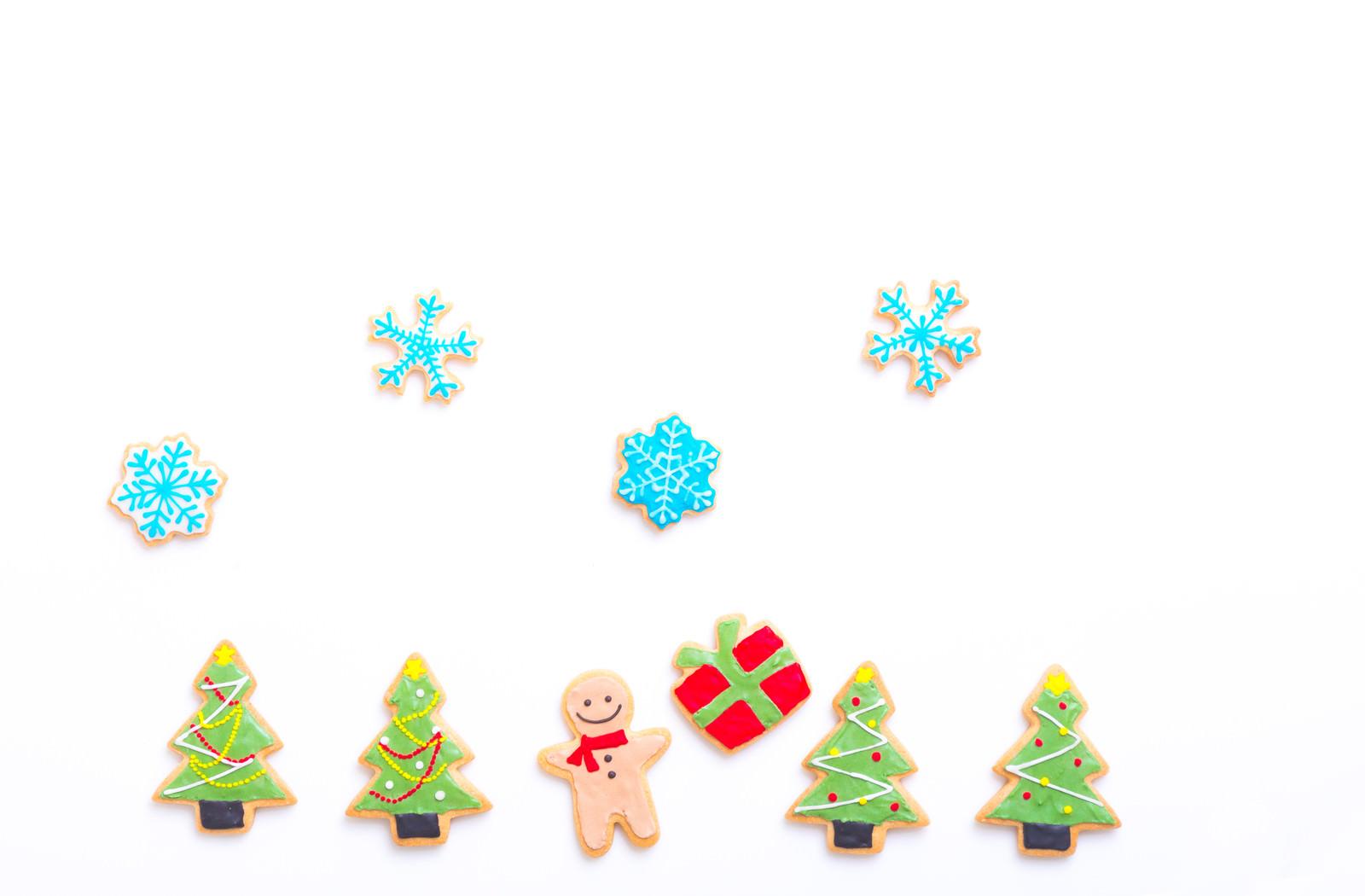 「プレゼントもらってハッピー(アイシングクッキー)」の写真