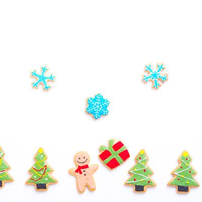プレゼントもらってハッピー(アイシングクッキー)の写真