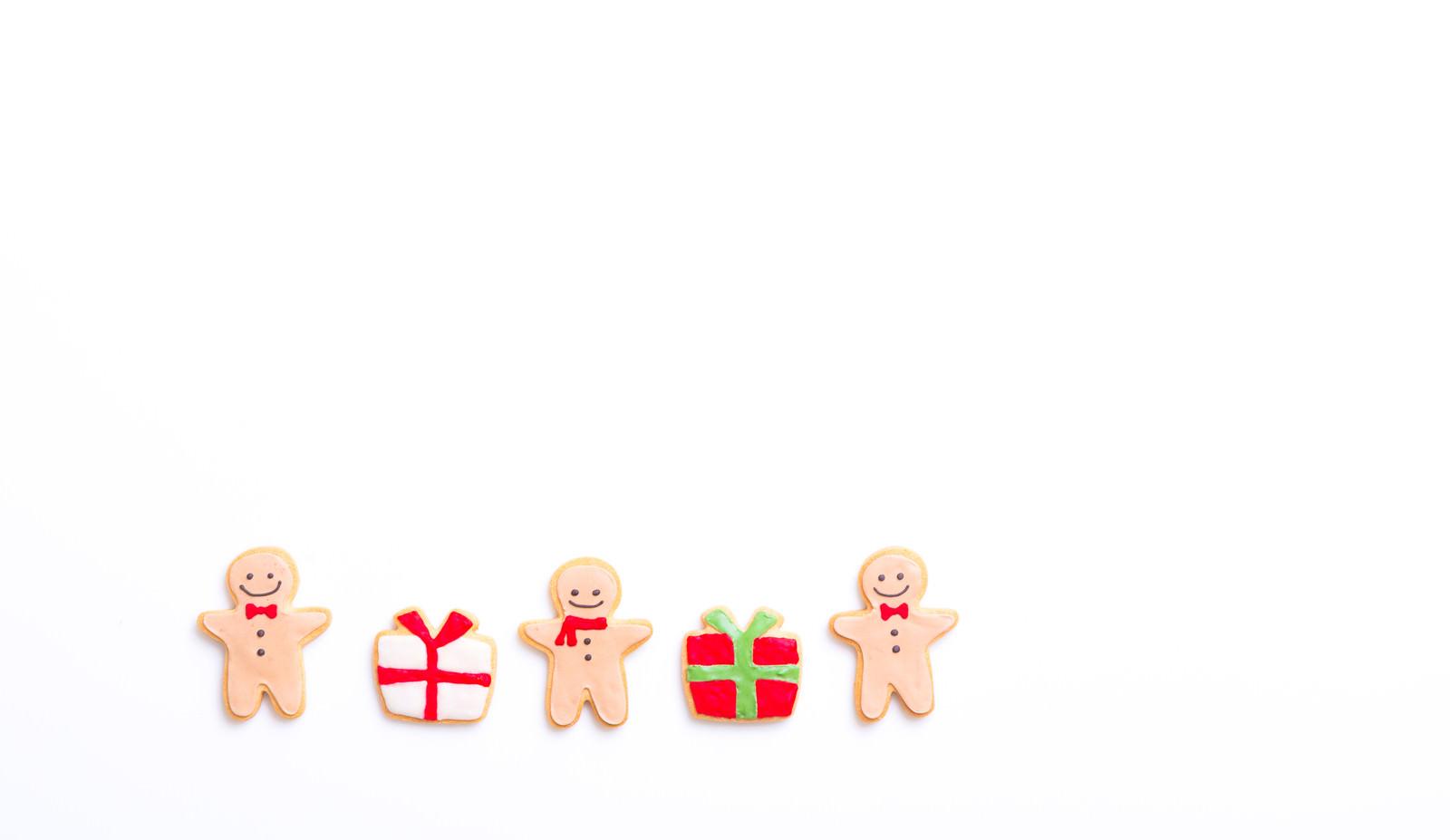 「少人数でプレゼント交換(アイシングクッキー)」の写真