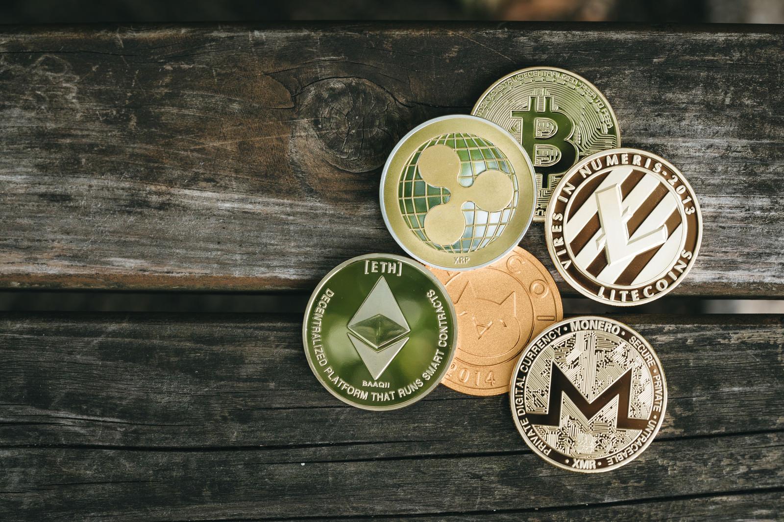 「集めた暗号資産(仮想通貨)」の写真