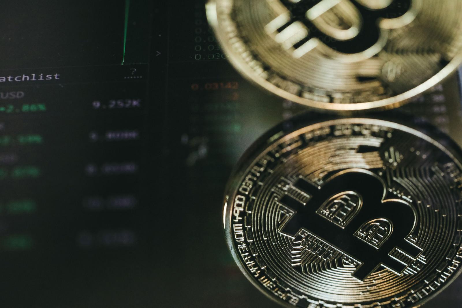 「レート一覧とビットコイン(暗号資産)」の写真