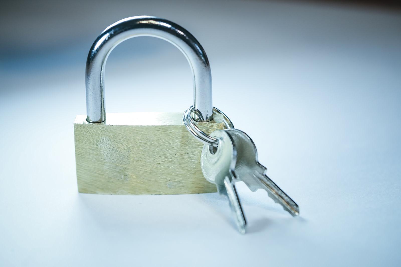 「南京錠(鍵セット)」の写真
