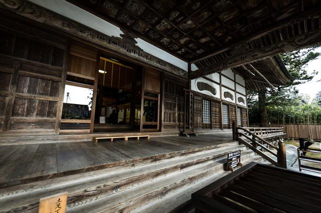 中尊寺本堂の造りの写真