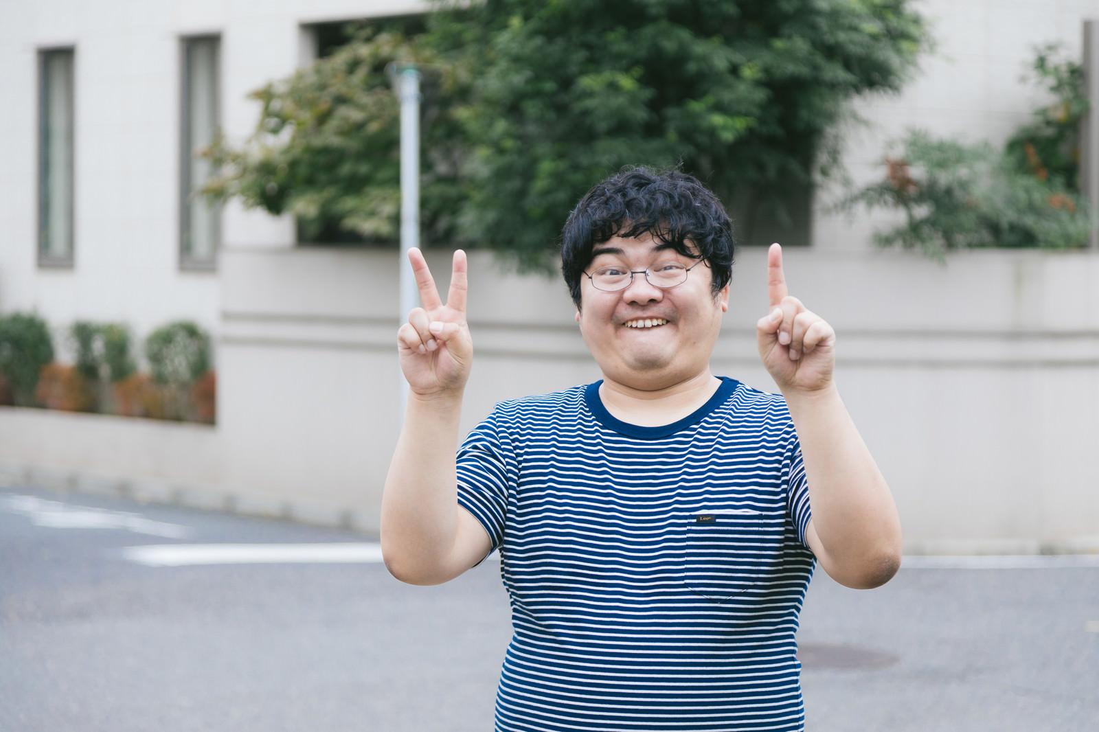 「にじゅういっさい」の写真[モデル:段田隼人]
