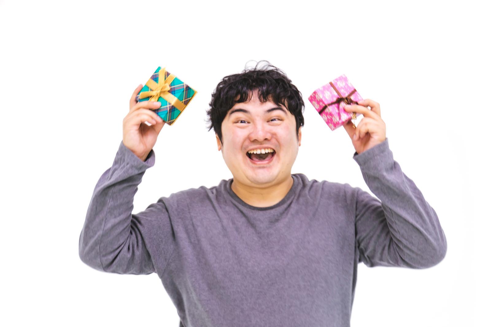 「義理チョコウェーイ! | 写真の無料素材・フリー素材 - ぱくたそ」の写真[モデル:段田隼人]