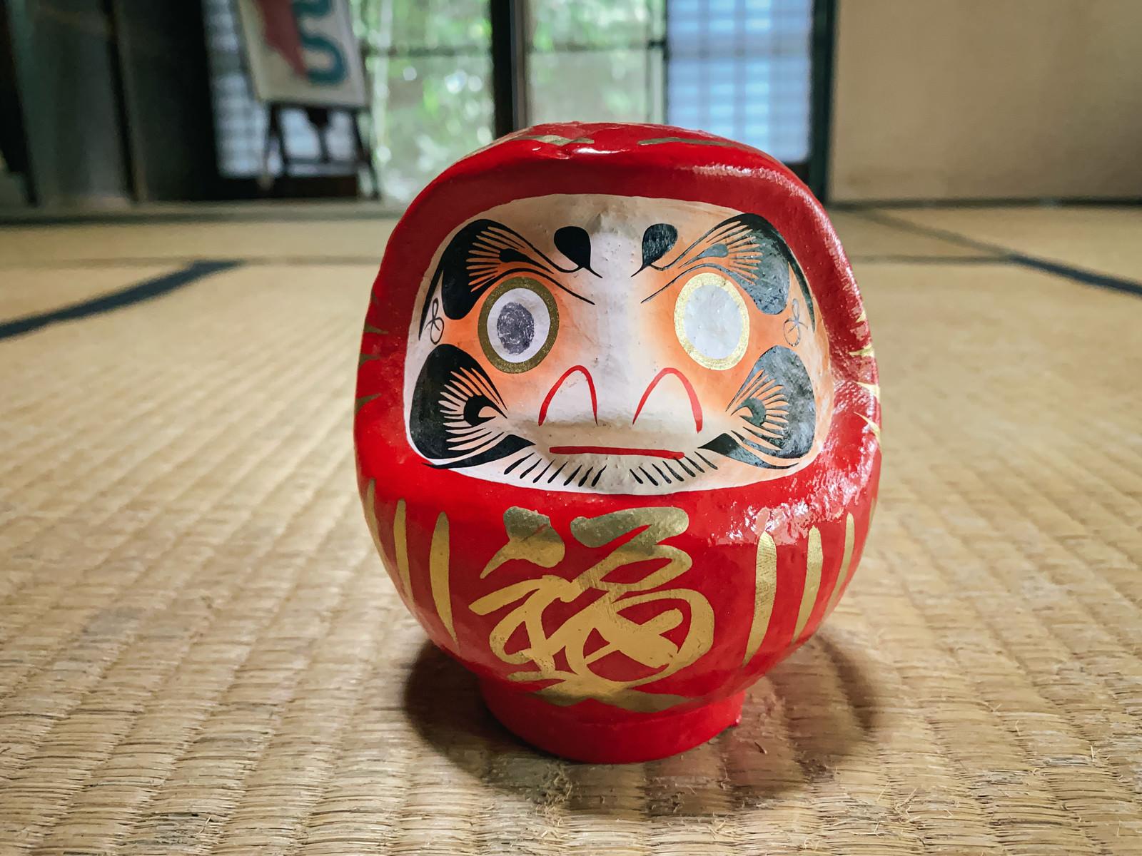 「片目のままの達磨さん」の写真