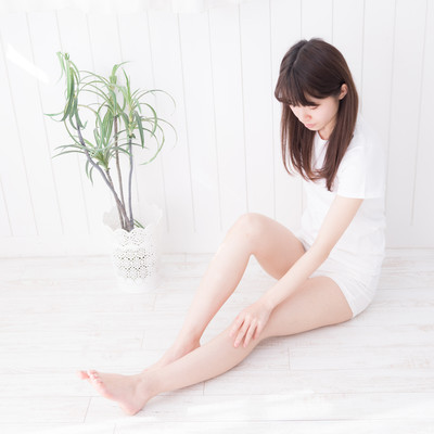 足脱毛した女性の写真