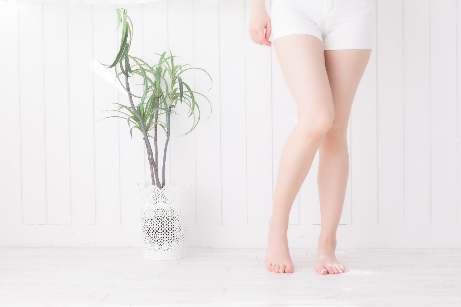 「若い女性の脚」の写真[モデル:川子芹菜]