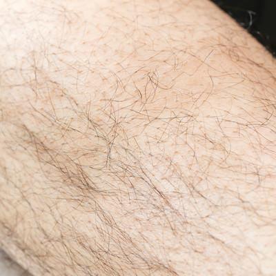 男性のすね毛の写真
