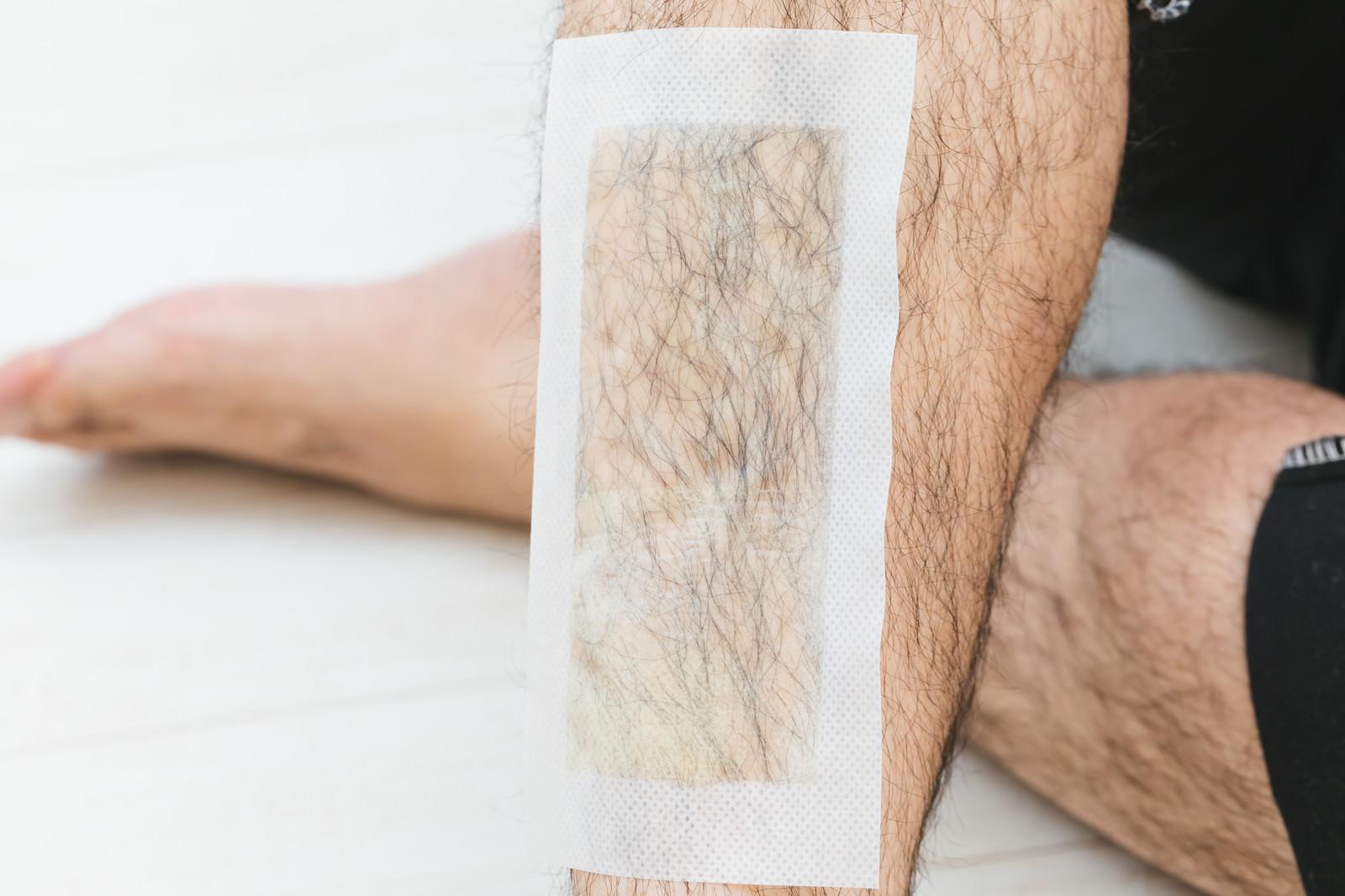 「表面からも確認できる脱毛シートの粘着面」の写真
