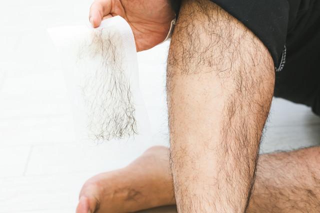 剛毛すぎて脱毛シートを持参の写真