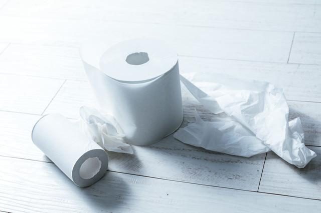 トイレのあと、お尻がふけてなくて汚いの写真