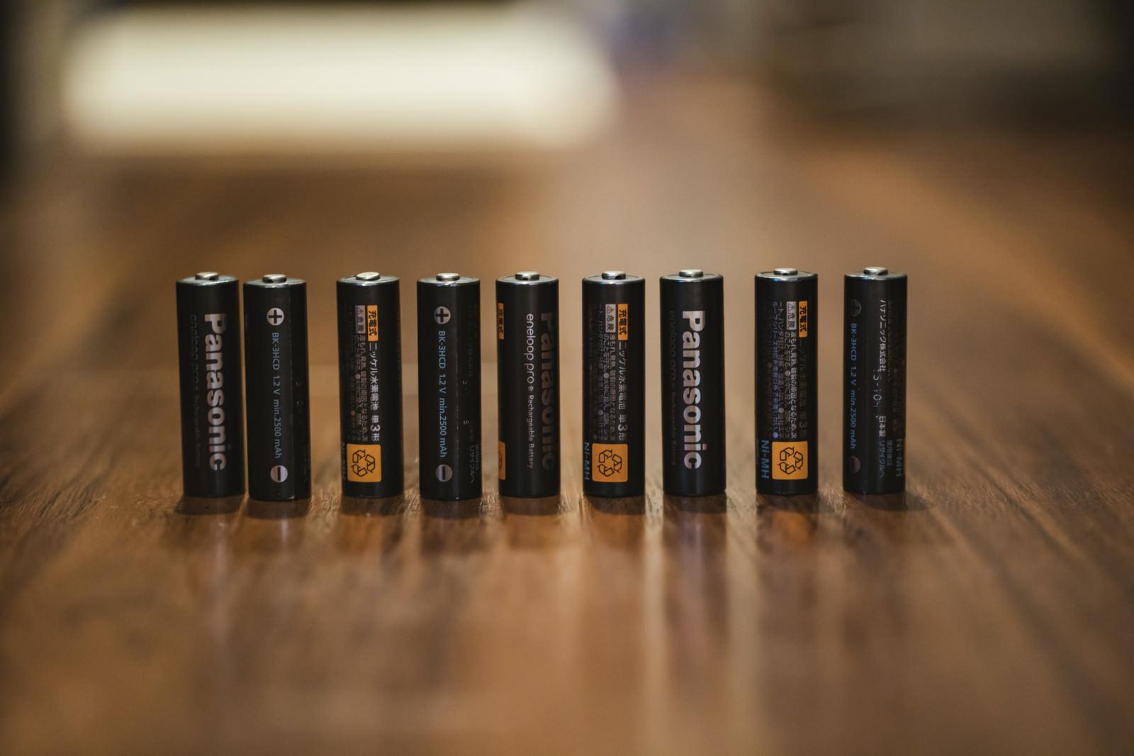 「備えていた単三電池(充電式)」の写真