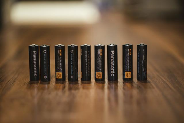 備えていた単三電池(充電式)の写真