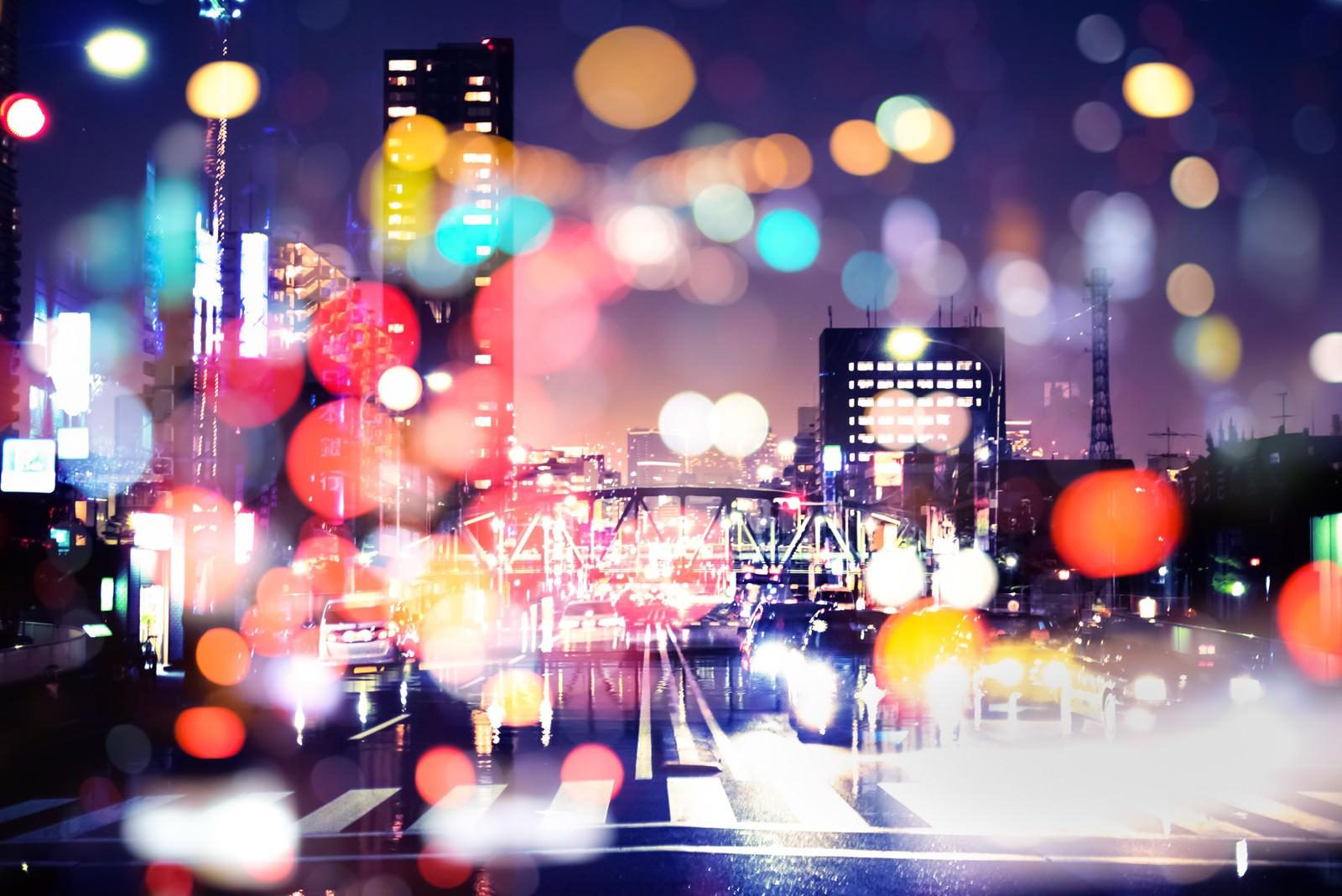 「眠らない街(フォトモンタージュ)」の写真