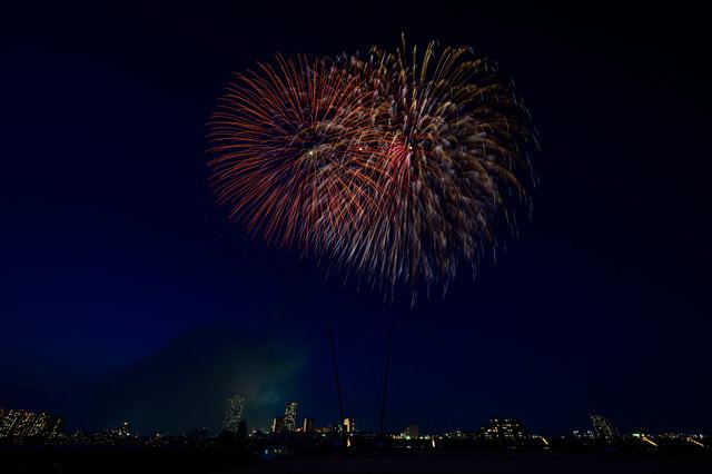 江戸川区の打ち上げ花火の写真