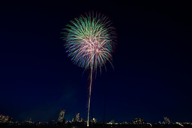 夜空を彩る花火大会(江戸川区花火大会)の写真