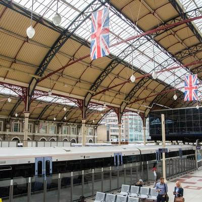 「ロンドンの鉄道駅」の写真素材
