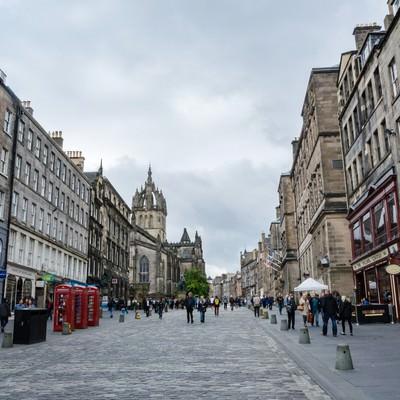 「エディンバラ(英国)の街並み」の写真素材